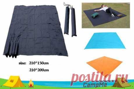 Лёгкий водостойкий коврик для кемпинга. Можно стелить под палатку для защиты от грязи и влаги. Разные цвета на выбор. Отличные отзывы, бесплатная доставка. Цена зависит от размера.