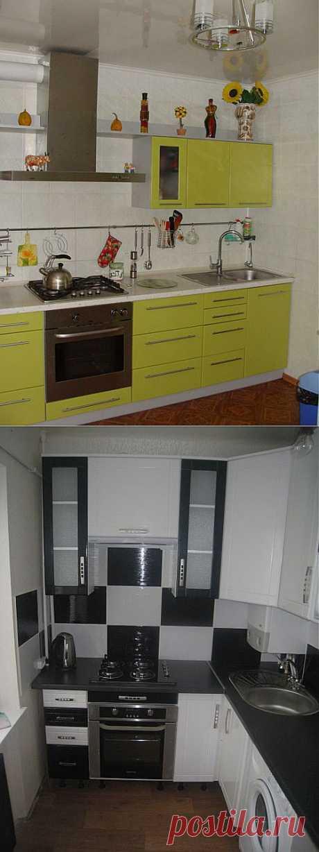 Самодельные кухни для маленьких квартир и хрущевок