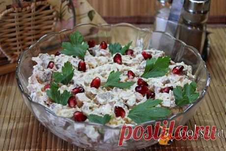 """Салат """"Каприз"""" Вкусный и сытный салат для праздничного застолья."""