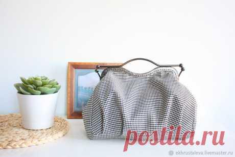 Мастер-класс : Шьем объемную сумку с фермуаром | Журнал Ярмарки Мастеров