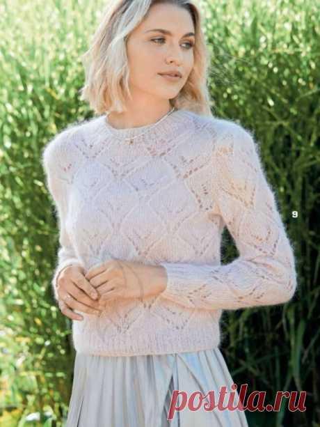 Топовая подборка моделей из журнала Сабрина + мастер-класс узора для кардигана Baggy sweater. | Asha. Вязание и дизайн.🌶 | Яндекс Дзен