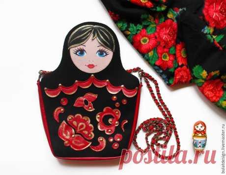 Шьем стильную сумку «Матрешку» из фетра и кожи - Ярмарка Мастеров - ручная работа, handmade