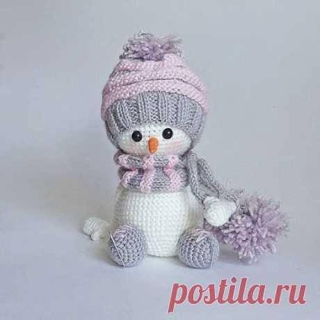 1000 схем амигуруми на русском: Снеговик амигуруми