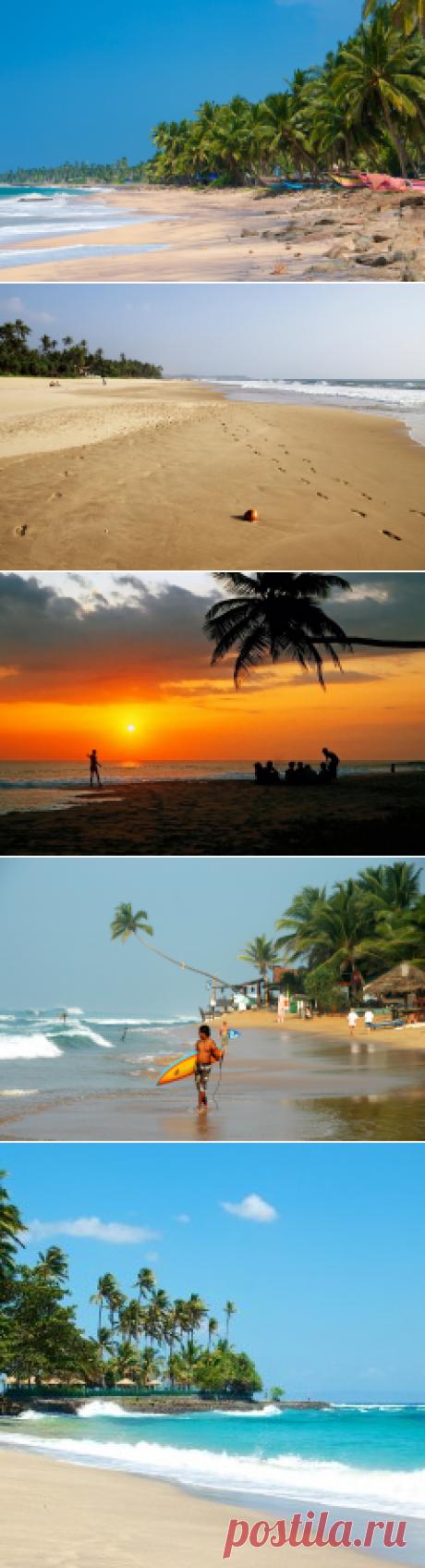 La playa Hikkaduva Bich, la Sri Lanka