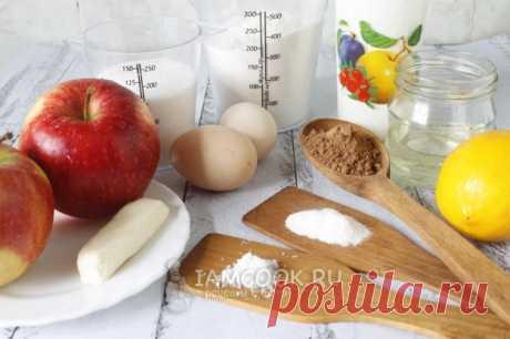 Шарлотка с яблоками и корицей в мультиварке — рецепт с фото пошагово