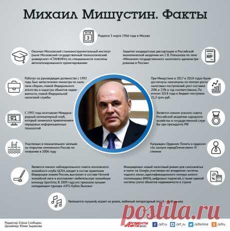 12 фактов о премьер-министре Михаиле Мишустине. Инфографика | В России | Политика | Аргументы и Факты