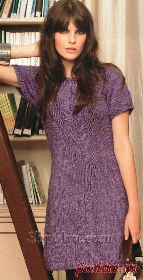 Сиреневое платье с рукавами реглан