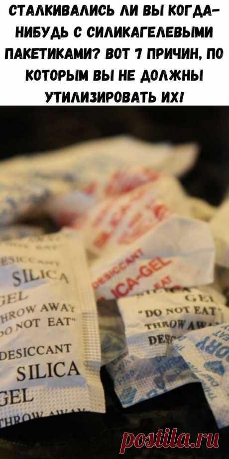 Сталкивались ли Вы когда-нибудь с силикагелевыми пакетиками? Вот 7 причин, по которым Вы не должны утилизировать их! - Полезные советы красоты