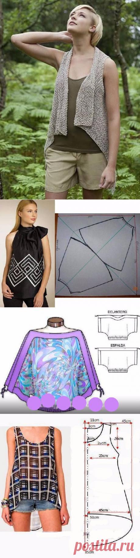 Простые идеи для шитья, или как легко украсить себя летом