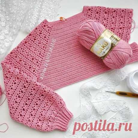 Чудесный пуловер крючком