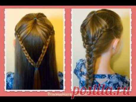 """Fairy Wings Braid"" Half Up Hairstyles For School, hair4myprincess"