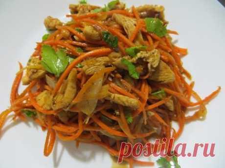 Вкусно! Морковь по-корейски с мясом