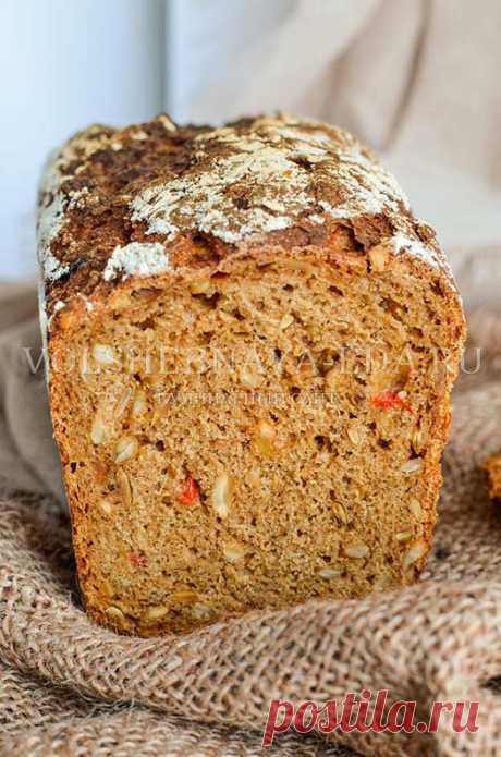 Ржаной хлеб с семечками и сладким перцем   Волшебная Eда.ру