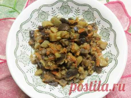 Картофельное рагу из кабачков и баклажанов с лесными грибами