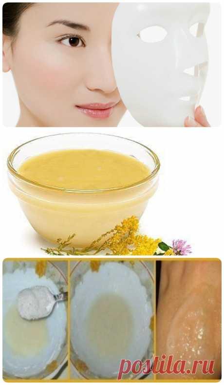 Китайская маска красоты из меда крахмала и соли - My izumrud