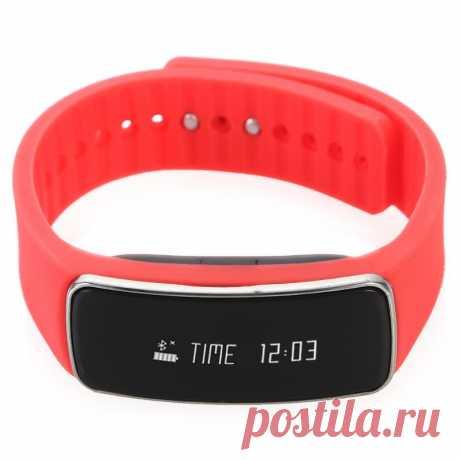 #Фитнес-браслет Qumann QSB-04, красный  Цена  1190 рублей