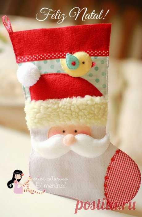Украшение дома к празднику. Новогодний сапожок / Украшение для дома к празднику. Упаковка подарков, подарочные коробки своими руками / КлуКлу. Рукоделие - бисероплетение, квиллинг, вышивка крестом, вязание