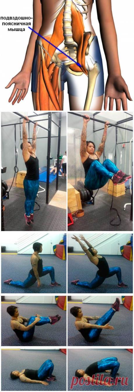 Все о подвздошно-поясничной мышце: эффективные упражнения на укрепления и растяжку
