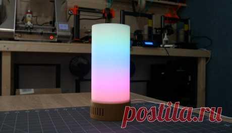 """Светодиодный светильник с визуальными эффектами Светильник представленный в этой статье в последнее время принято называть """"лампа настроений"""". Как правило они изготавливаются с использованием адресных светодиодов и программируемого контроллера. Такое сочетание позволяет настроить различные цвета свечения и визуальные эффекты.Корпус для"""