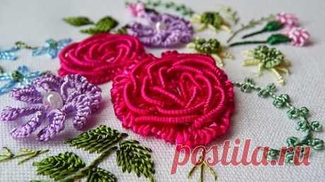 Бразильская техника вышивки (Brazilian Dimensional Embroidery) ☆ швы и стежки, мастер-классы и видео