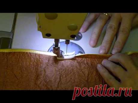 How to sew a slanting inlay