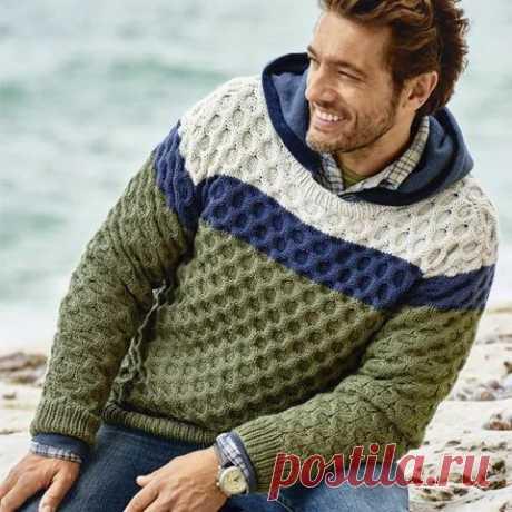 Men's Hand Knit Sweater 141B – KnitWearMasters