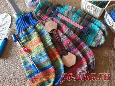 Как я вяжу носочки #2/ вязание спицами