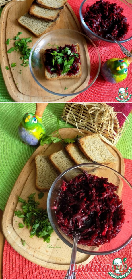 Очень быстрая острая свекольная закуска – кулинарный рецепт