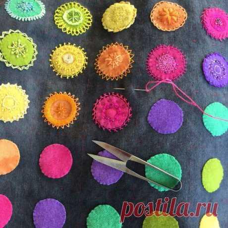 (41) Embroidered Mandala Sampler - creative stitching   мамуля
