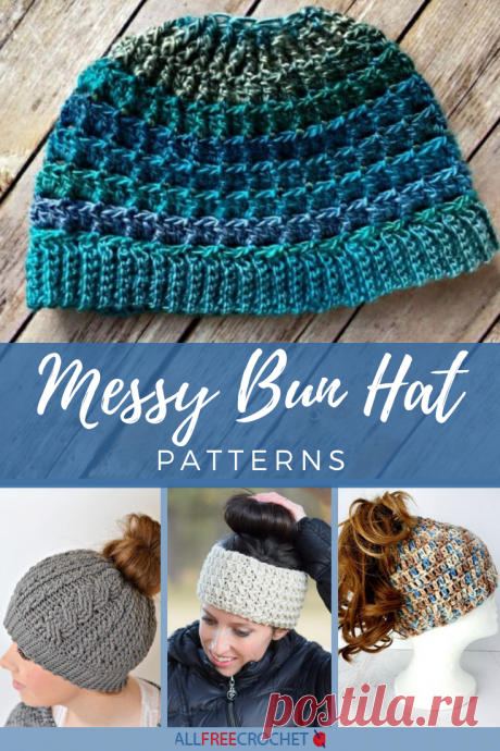 "32 Messy Bun Hat Patterns Bun hats, also known as ponytail hats and ""messy"" bun hats, have cropped up seemingly out of nowhere, and now you can't browse through crochet patterns without coming across one of these unique crochet hat patterns.<br /> <br /> Crochet messy bun hats are very similar to normal <a href=""https://www.allfreecrochet.com/tag/Free-Crochet-Hat-Patterns"" target=""_blank"">crochet bean..."