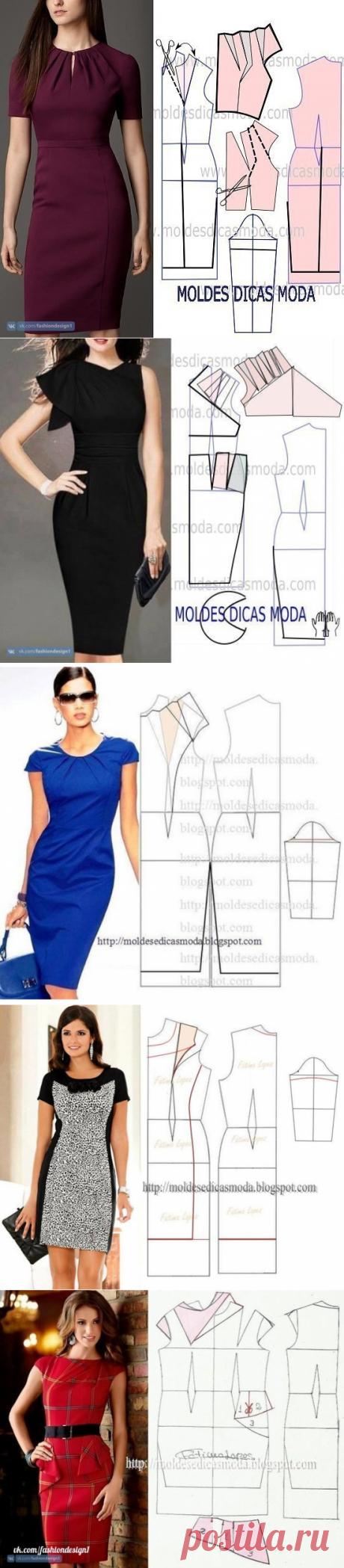 Моделирование платья-футляра — Сделай сам, идеи для творчества - DIY Ideas