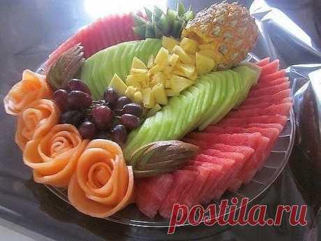 Творческие идеи из фруктов.