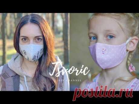 МНОГОРАЗОВАЯ маска из хлопка и бинта / DIY TSVORIC
