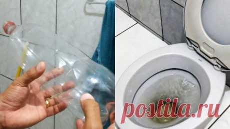 Как прочистить засор в унитазе пластиковой бутылкой