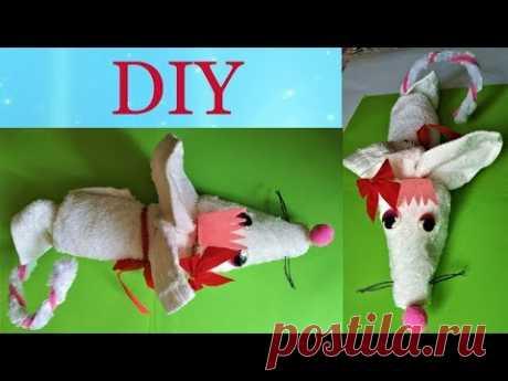 Мышка своими руками из полотенца, символ 2020.  A towel mouse - YouTube