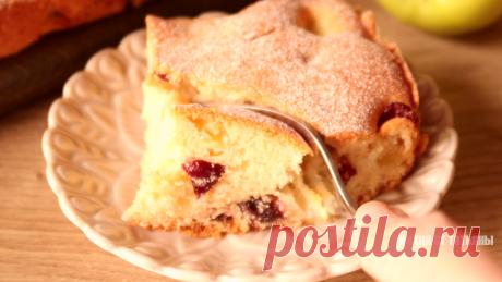 Меньше теста, больше яблок: быстрый яблочный пирог к чаю   Кухня от Татьяны   Яндекс Дзен