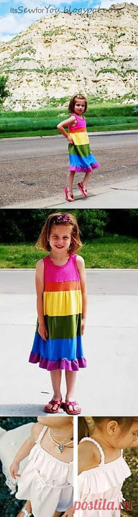 Платья для детей из футболок (мастер-классы) / Для детей / Модный сайт о стильной переделке одежды и интерьера