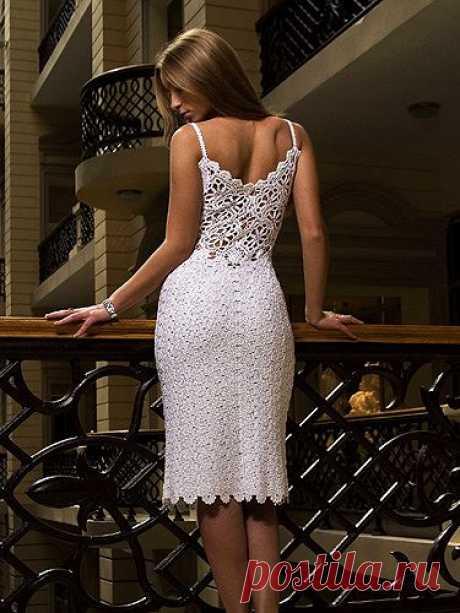 красивые платья крючком c осинки