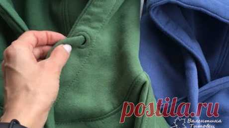 Как я делаю отверстия для шнурков в худи без всяких петель, люверсов и установщиков.