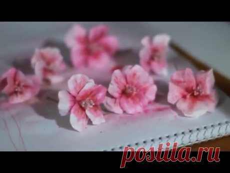 Flowers from paper the hands. Hibiscuses. Master class scrapbooking