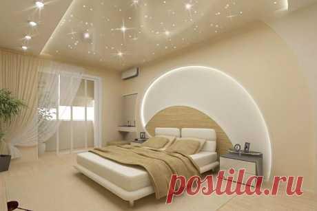 дизайн натяжных потолков в спальне фото 2016 современные идеи: 12 тыс изображений найдено в Яндекс.Картинках