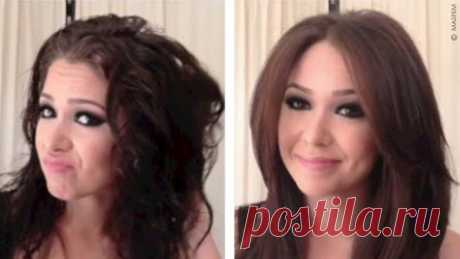 Укладка волос средней длины видео