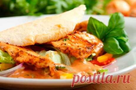 Салат кебаб с курицей – пошаговый рецепт с фото.