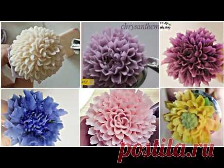 앙금플라워 국화꽃짜기 모음 chrysanthemum flower piping techniques tutorial