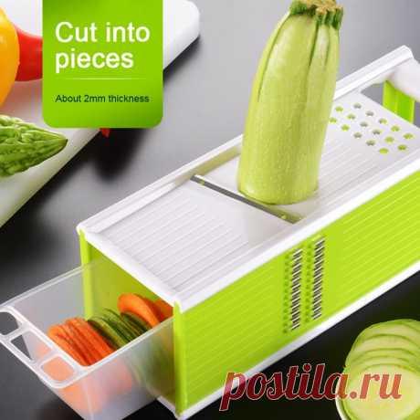 Устройство резки овощей и фруктов 5 в 1 ручной слайсер для картофеля лезвие из нержавеющей стали терка для моркови, лука, слайсер для сыра Кухонные гаджеты|Терки| | АлиЭкспресс