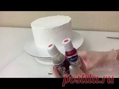 Как ПРОСТО и НЕЖНО украсить Торт! Цветы из БЕЛКОВОГО крема! Весенний торт! Красивый торт!