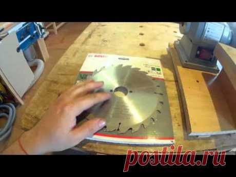 Заточка пильных дисков самостоятельно