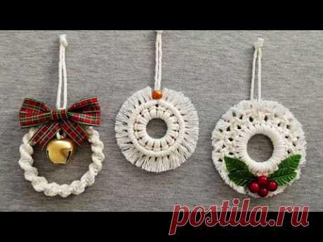 DIY ADORNOS de NAVIDAD en MACRAME (paso a paso) | DIY Macrame Christmas Ornaments