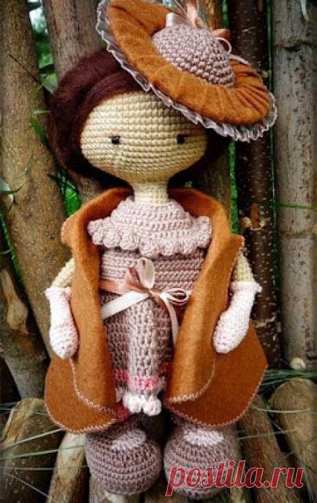 1000 схем амигуруми на русском: Кукла в винтажной шляпке