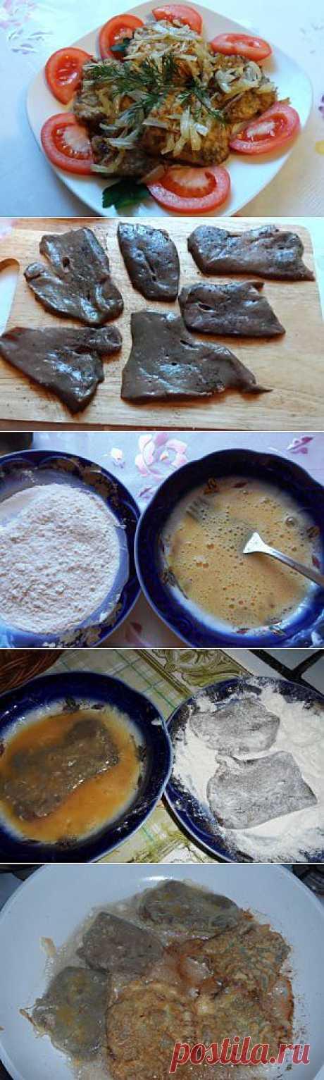 Отбивные из печени   Домашняя еда